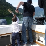 kids love fishing in Campbell RIver BC