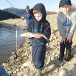 My kids with a big vancouver Island trout