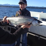 Joel with a big Campbell River Salmon