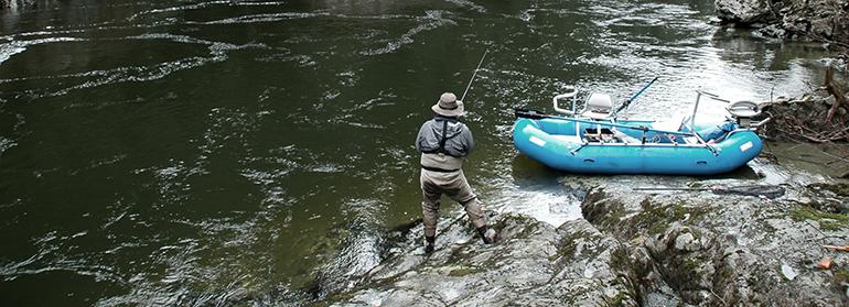 Guided Gold River Steelhead fishing