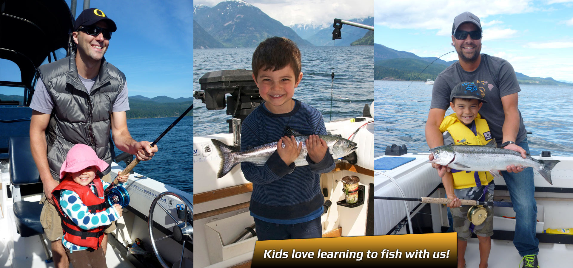 kids fish with profish