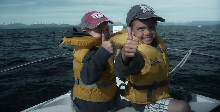 Campbell River Salmon fishng charters for kids